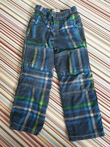 Mini Boden Boys Blue Green Cargo Trousers 7y