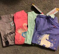 Girls Cat & Jack Short Sleeve T-Shirts Lot of 4 Size S 6-6X New