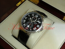 Ulysse Nardin Maxi Marine Chronometer 43mm Black Roman Dial On Croc 263-67/42