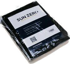 """Lichtenberg Sun Zero Room-Darkening Grommet-Top Curtain Panel Black (54"""" X 95"""")"""