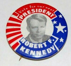 1968 ROBERT KENNEDY BOBBY RFK campaign pin pinback button political presidential