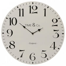 Shruti Time & Co Light Grey 50cm Wooden Wall Clock
