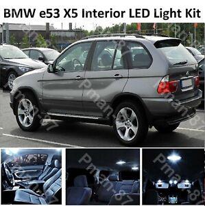 For BMW X5 E53 2000 - 2006 LED INTERIOR UPGRADE KIT SET WHITE LIGHT LIGHTS