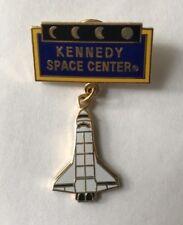 "Kennedy Space Center pin Space Shuttle Dangle 1-3/4"" Pinback Travel Souvenir"