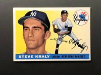 1955 Topps #139 Steve Kraly Rookie New York Yankees EX