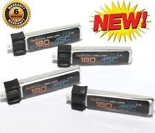 Blade Inductrix Mini Quad Lipo Battery 1S 3.7V 180Mah 45C 4 Pack