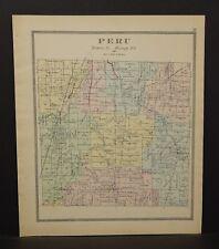 Ohio Huron County Peru Township 1891  !Y14#80