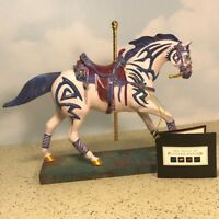 TRAIL OF PAINTED PONIES HORSE FIGURINE STATUE PONY VI'S VIOLET VISION CAROUSEL