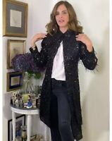 ZARA LIMITED EDITION SEQUIN DRESS TRINNY COAT DRESS SIZE M BNWT BLOGGERS FAVE