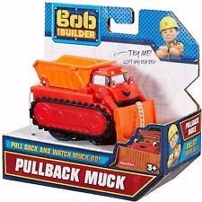 Fisher-Price Bob The Builder PullBack Muck Toy Bulldozer Loader Dump Truck