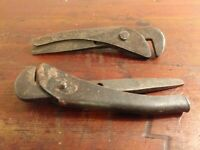 "Collectable Pair of Vintage Adjustable 5.5"" Spanners - 1 x Footprint 1 x Domino"