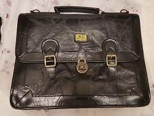 Marc CHANTAL Vintage Handtasche Shopper Aktentasche wunderschönes Innenfutter