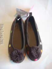 Gymboree CUPCAKE CUTIE Girl Brown Multi Color Polka Dot Shoes Flats Girl Size 11