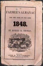 1848 The Farmer's Almanac