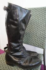 Vintage'60 cuir bottes de moto doublée de peau de mouton taille 7 aero les fermetures à glissière