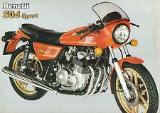 Brochure Benelli 504 Sport - Moto d'Epoca Benelli S.p.A. Pesaro