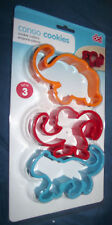 BRAND NEW dci Congo Cookies Cookie Cutter Set Elephant Monkey Tiger