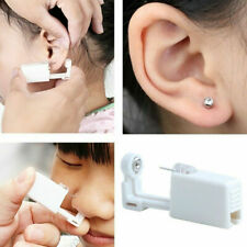 Self Ear Piercing Gun Earring Disposable Silver Stud Gun Sterile  Earring Tool