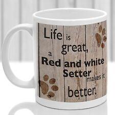 Red and White Setter  dog mug, Red and White Setter gift, ideal  for dog lover