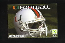 2012 Miami Hurricanes Football Schedule--Publix