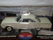 1/18 HWY 61 1967 PLYMOUTH BELVEDERE SUPERSTOCK WHITE BY SUPERCAR