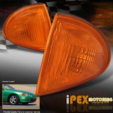 Pair 93-97 Honda Del Sol JDM Amber Corner Signal Lights EG1 EG2 92 93 94 95 96
