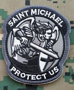 MODERN SAINT ST. MICHAEL PROTECT US TACTICAL OPS 3D USA ARMY HOOK LOOP PATCH *02