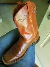 Ariat Leather Cowgirl Western Ankle Boots Square Toe Size 7M
