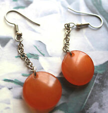 Baltic Russian pressed Amber chain earrings
