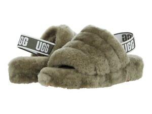 UGG Women's Fluff Yeah Slide Slipper 1095119 Burnt Olive Sz 5-12 NEW