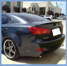 PAINTED 06-13 LEXUS IS250 IS350 ISF Sedan OE Type Trunk Lip Spoiler Boot As Wing