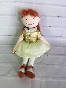 Rich Frog Degas Little Ballerina Marie Cloth Plush Stuffed Doll Yarn Red Hair