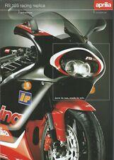 APRILIA 125 RS PROSPECTUS .BROCHURE en FRANCAIS 2000