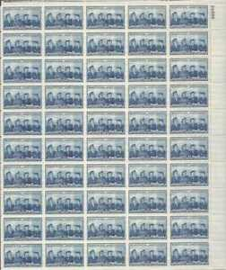 US Stamp - 1952 Women in Armed Services 50 Stamp Sheet Scott #1013