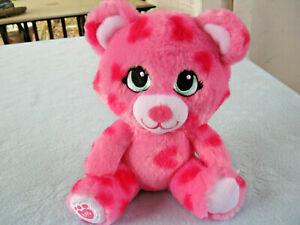 "2015 Buddies Small Fry 7"" Pink Bear With Hearts Plush"