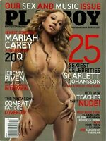 Playboy Magazine March 2007 25 Sexiest Celebrities Mariah Carey On Cover