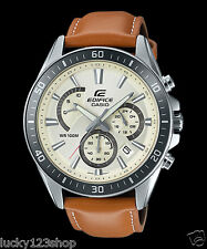 EFR-552L-7A White Casio Men's Watches Edifice Date Day 24h Stopwatch 100m New