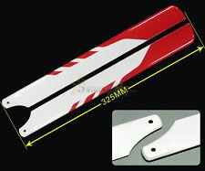 325mm Glass Fiber Main Rotor Blade Red For Trex 450 V2 V3 PRO DFC Helicopter
