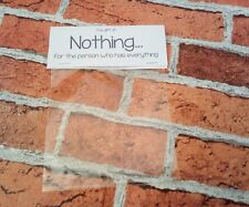 Nothing - gag gift, prank, joke. Father's Day, Secret Santa, Stocking filler