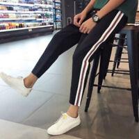 Confortable Femmes Yoga Décontracté Pantalon Sarouel Côté à Rayures Jogging