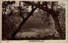 Rapallo Italien AK Briefmarke 1925 gelaufen Panorma Gesamtansicht Bucht Strand
