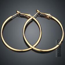 Quality Women's 18K Gold/925 Sterling Silver Plated Hoop Earrings Ear Hoops Set