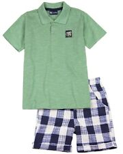 QUIMBY Boy's Polo and Plaid Shorts Set, Sizes 2-12