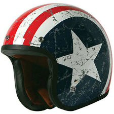 Torc T50 Rebel Star Open Face Motorcycle Helmet sz. Small