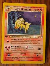 Pokemon 1st Edition Neo Destiny Light Ninetales uncommon card mint condition