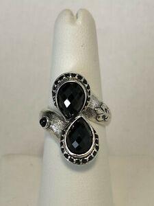 Scott Kay Sterling Silver 925 Onyx Gemstone Ring Size 6.75