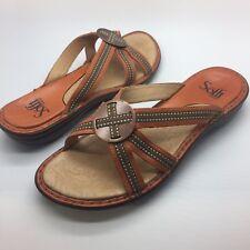 Sofft Shoes Slides Sandals Mules Slip Ons 8N 8 N Brown Tan