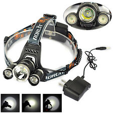BORUIT 13000Lm 3*XML T6+2R5 LED 18650 Headlamp Headlight Head Torch Lamp+Charger