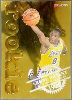1996 KOBE BRYANT NBA Hoops Rookie Gold Insert 3 Lakers