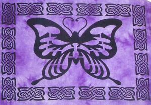Bug Butterfly Beautiful Indian Printed Small Poster Wall Hanging Tapestry Hippie